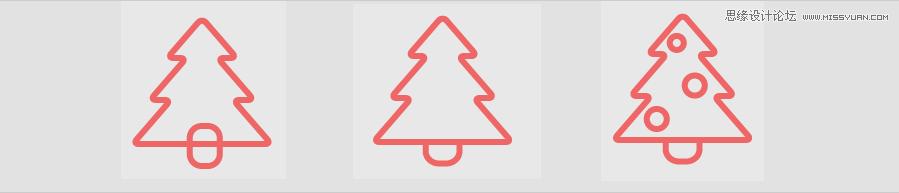 Illustrator繪製簡約風格的聖誕節圖標