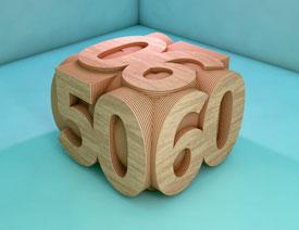 C4D数字建模和渲染制作立方体字体