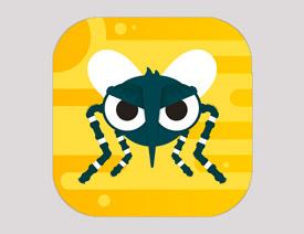 图标制作,用PS制作一款由蚊子组成的APP图标
