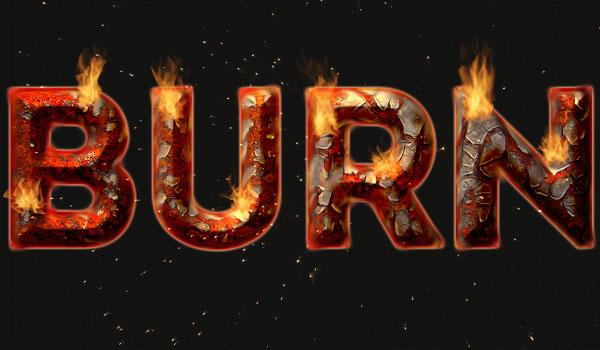 photoshop设计火焰燃烧特效的艺术字教程