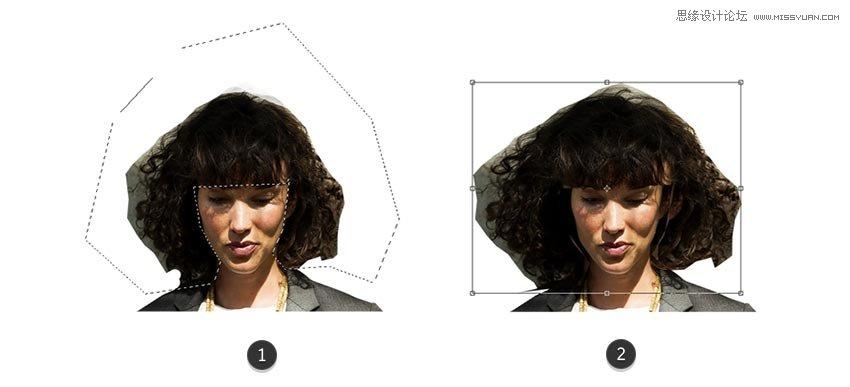 Photoshop設計80年代人像二次曝光效果
