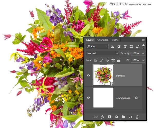 photoshop制作花朵装饰特效的分层次艺术字