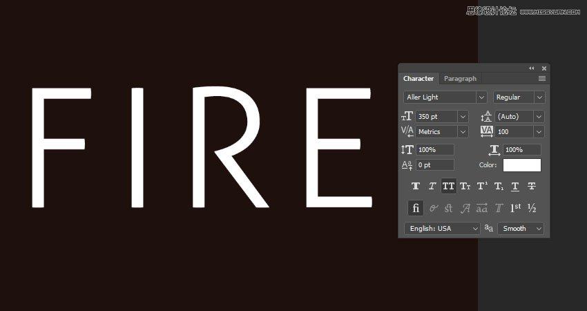 photoshop设计火焰燃烧艺术字教程【英】
