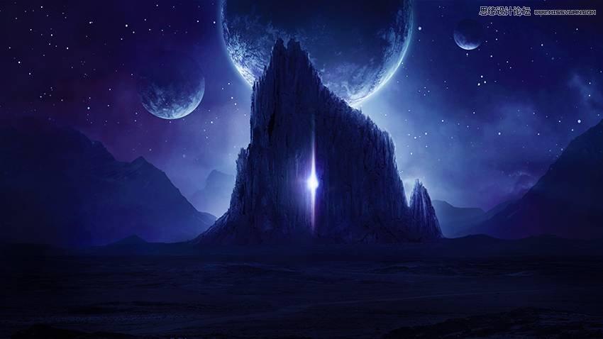photoshop合成唯美的宇宙星空风景图,ps教程,思缘教程网