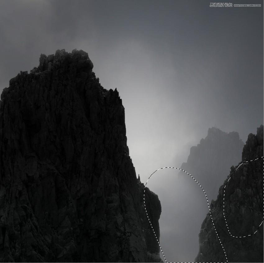 photoshop制作清晨唯美的迷雾风景效果