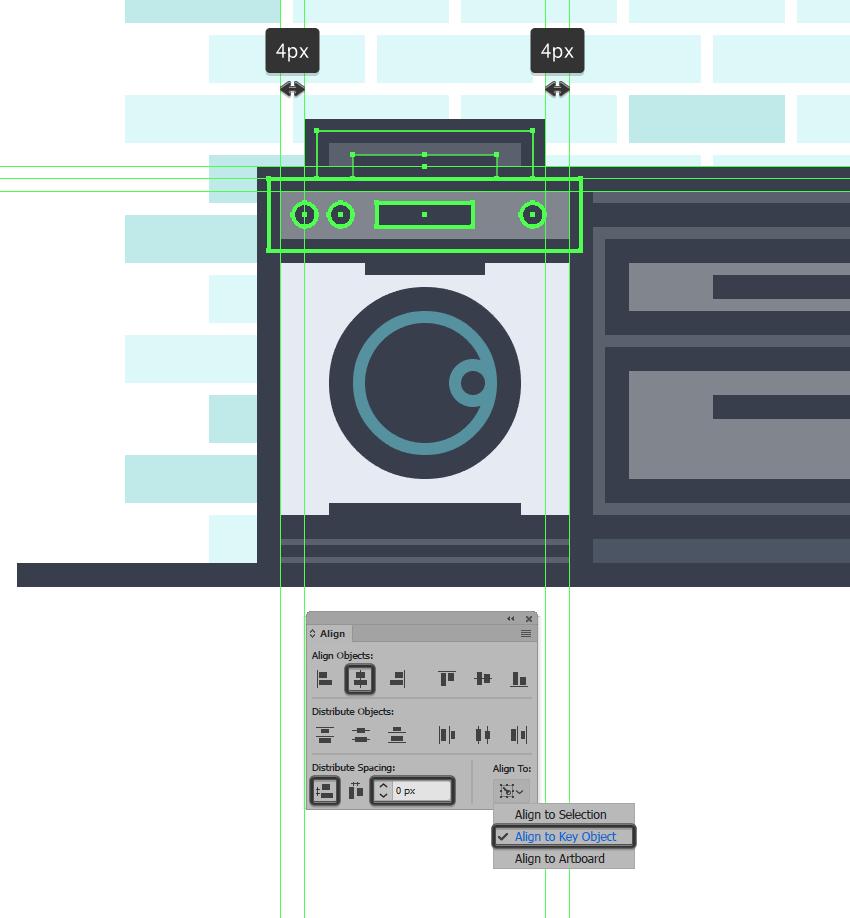 Illustrator創建MEB風格的廚房簡約布局
