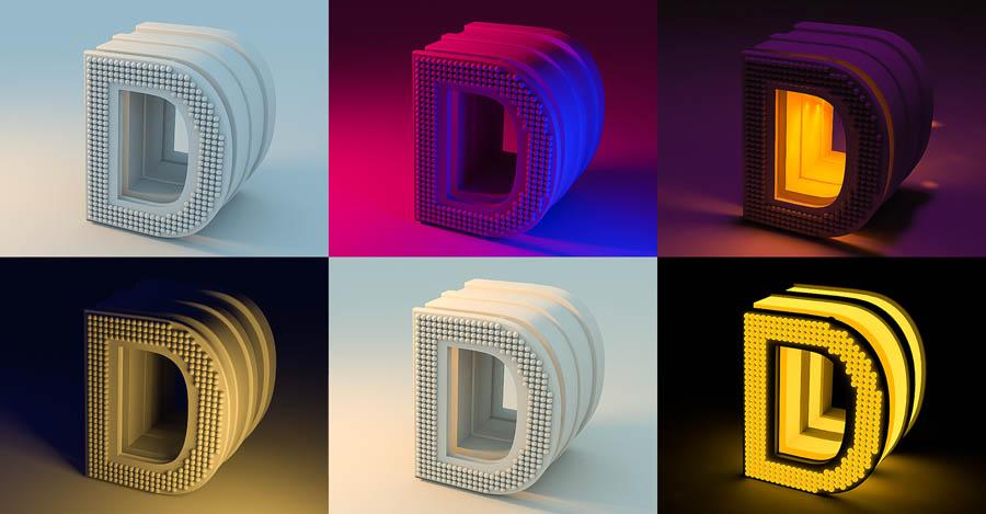 C4D实例教程:高级材质渲染案例,PS教程,思缘教程网