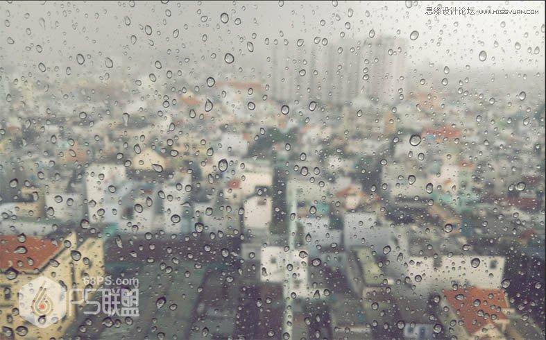photoshop制作大雨后玻璃上的立体水滴字 - ps转载区