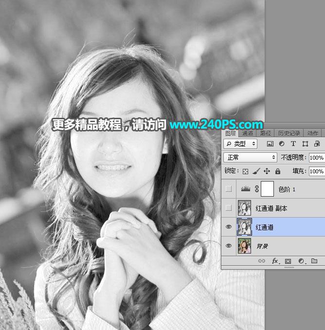 Photoshop巧用色版工具去背出多髮絲人像
