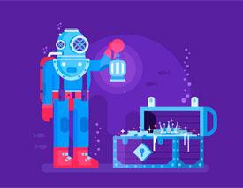 Illustrator设计创意的未来科技插画场景