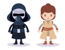 Illustrator绘制三个星球大战角色人物