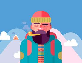 Illustrator用简单形状绘制扁平人像插画