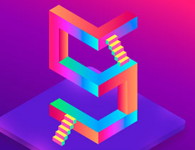 Illustrator绘制2.5D风格的数字教程
