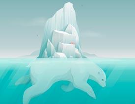 Illustrator绘制北极冰川效果图