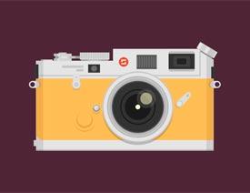 Illustrator绘制复古风格的相机图标