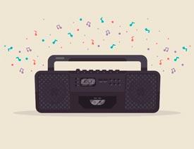 Illustrator绘制复古风格的收音机图标