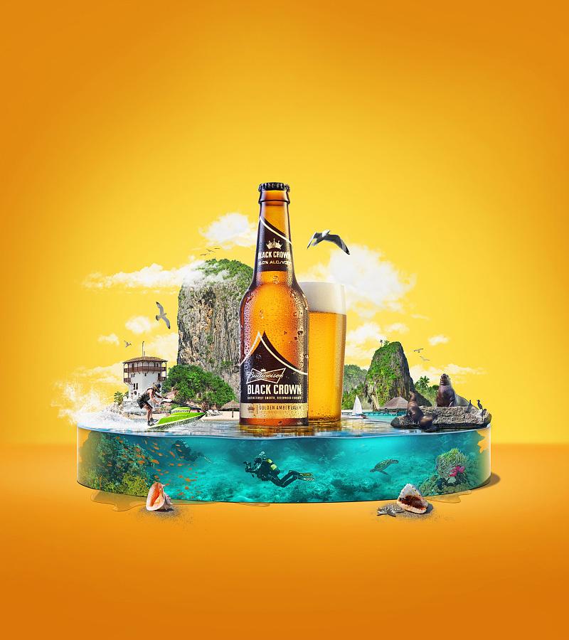 photoshop设计夏季创意的啤酒宣传海报