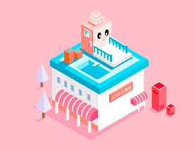 Illustrator绘制2.5D风格的建筑插画