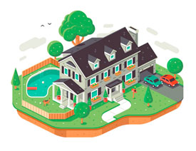 Illustrator绘制2.5D风格的精致小房子