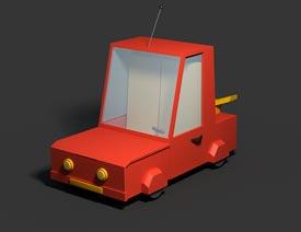 C4D制作逼真的乐高小汽车建模教程