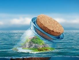 2017最新注册送白菜网合成海洋中漂浮的漂流瓶教程