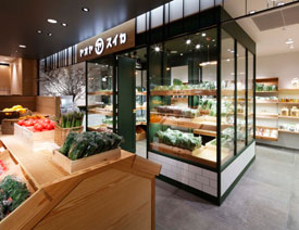 日本yaoyasuika蔬果零售店铺设计欣赏