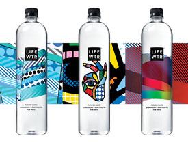 LIFEWTR纯净水简洁风格包装设计欣赏