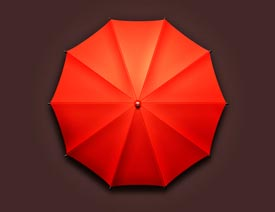 2017最新注册送白菜网绘制立体风格的小红伞教程