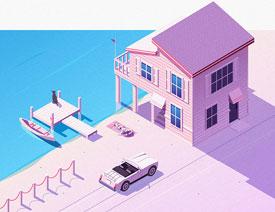 Illustrator结合PS绘制2.5D风格的插画