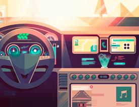 Illustrator绘制科技感十足的汽车内饰场景