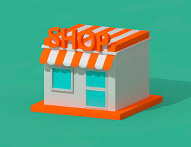 C4D制作卡通主题立体小商店场景