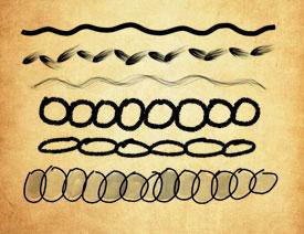 手绘分割线装饰PS笔刷