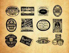欧美复古的印章和标签PS笔刷