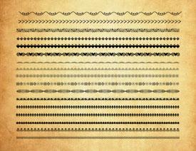古典花纹边框分割线PS笔刷