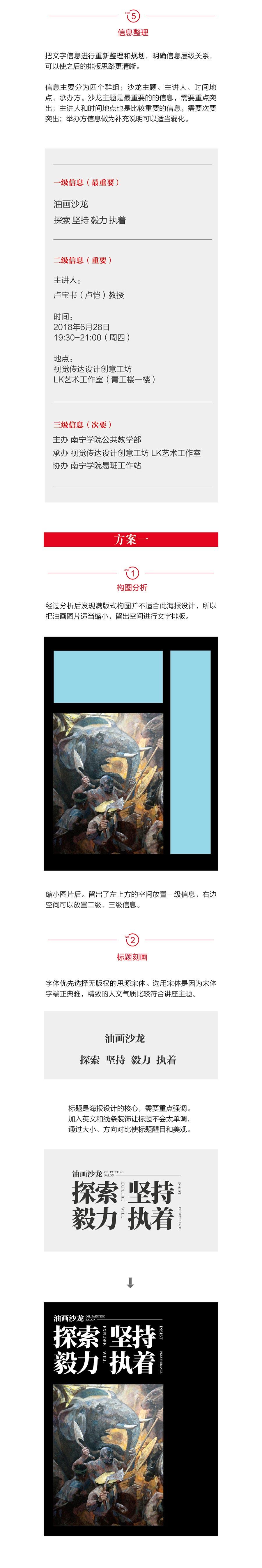 設計師詳細解析油畫沙龍海報的修改示范