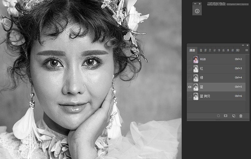 photoshop给人像美女照片后期精修和润色