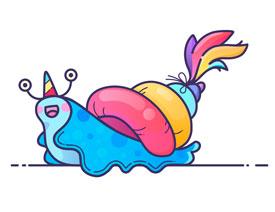 Illustrator绘制卡通风格的蜗牛教程