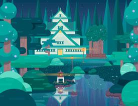 Illustrator绘制扁平化风格的森林插画教程