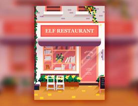 Illustrator绘制时尚的街边小店插画教程