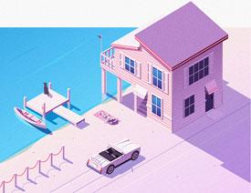 Illustrator绘制2.5D风格的磨砂插画教程