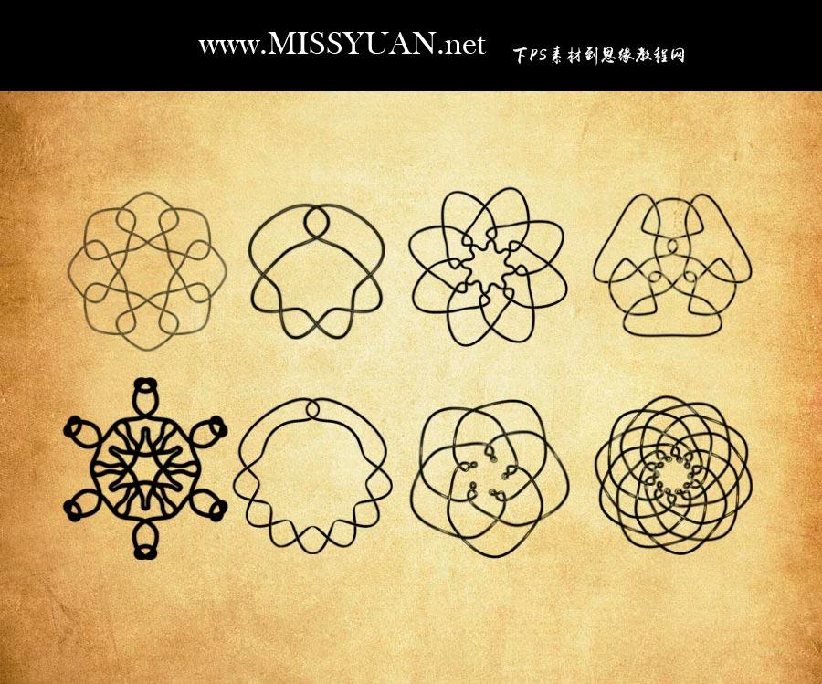 抽象的花纹图形PS笔刷