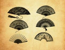 中式古典折扇PS笔刷