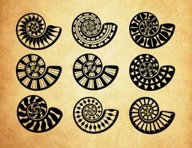 106款螺旋状创意图案PS笔刷