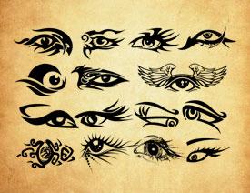 20款创意的眼睛花纹PS笔刷