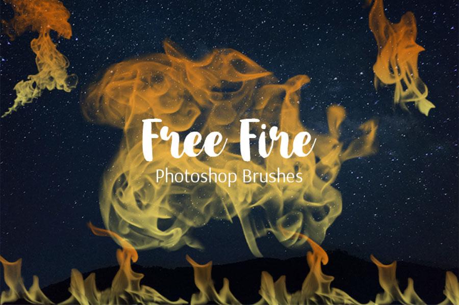 10款燃烧的火焰火苗PS笔刷