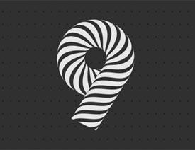 Illustrator制作斑马条纹组成的艺术字