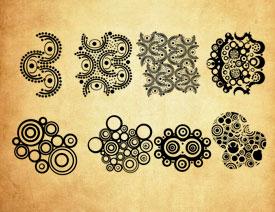 创意的抽象花纹装饰PS笔刷