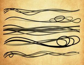 抽象的丝带线条装饰PS笔刷