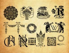 各种创意的花纹图案PS笔刷