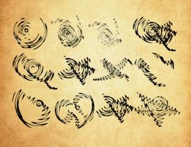 抽象的旋转式花纹PS笔刷